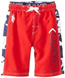 U.S. Polo Assn. Big Boys' Solid Board Shorts with Floral Panels