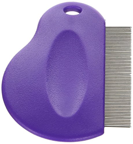Master Grooming Tools Contoured Grip Flea Combs - Ergonomic Combs for Removing Fleas, Purple ()