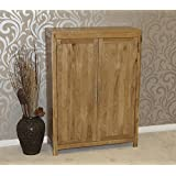 solid oak shoe cupboard cabinet hallway porch storage furniture hflco baumhaus mobel solid oak extra