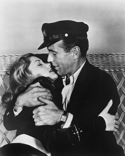 To Have and Have Not Humphrey Bogart Lauren Bacall romantic embrace 8x10 Promotional Photo