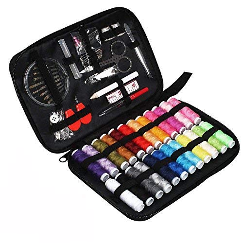 Sewing Kit, TUXWANG 90 Sewing Supplies with Mending and Sewing Needles, Scissors, Thimble, Threads,Tape Measure and More, Perfect for Home, DIY, Beginners, Emergency, Travel