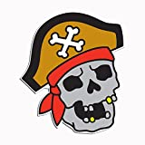 tattoos removable pirates - Pirate Skull Jolly Roger Tattoo Style 5 Inch Color Vinyl Decal