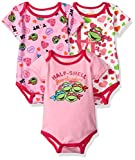 girl toddler ninja turtle shirt - Nickelodeon Baby Girls' Ninja Turtles 3 Pack Bodysuit, Pink, 24m