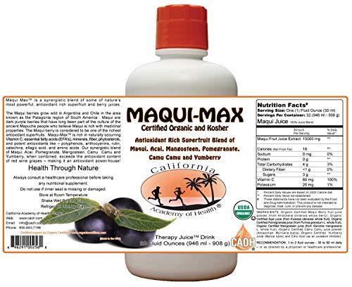 Maqui Max - Organic Maqui Juice Blend from CAOH® (2-32 oz Bottles) (Juice Maqui Berry)