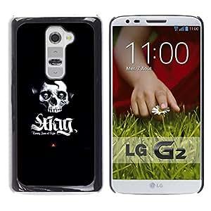 CASECO - LG G2 - SWAG Skull - Delgado Negro Plástico caso cubierta Shell Armor Funda Case Cover - SWAG cráneo