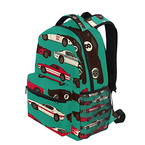 d098a0a960b8 KVMV American Muscle Classic Racing Car Seamless Lightweight School  Backpack Students College Bag Travel Hiking Camping Bags