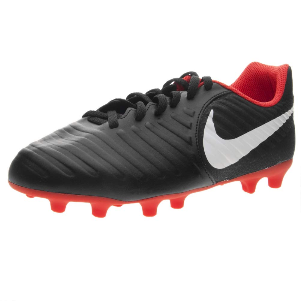Nike Jr Legend 7 Club (MG) Soccer Cleat Black/Pure Platinum/LT Crimson Size 5.5 M US by Nike