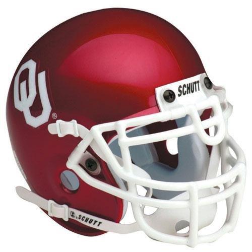 Oklahoma Sooners Replica Full Size Helmet by Schutt (Oklahoma Replica Helmet)