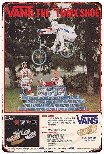 Jackgold Living Vans Shoes BMX Racing Ad Rare Vintage Reproduction Metal Sign 8 X 12 (Shoes Vintage Reproduction)
