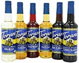 Torani Sugar Free Syrup Variety Pack, 25.4 Fl Oz (Pack of 6)