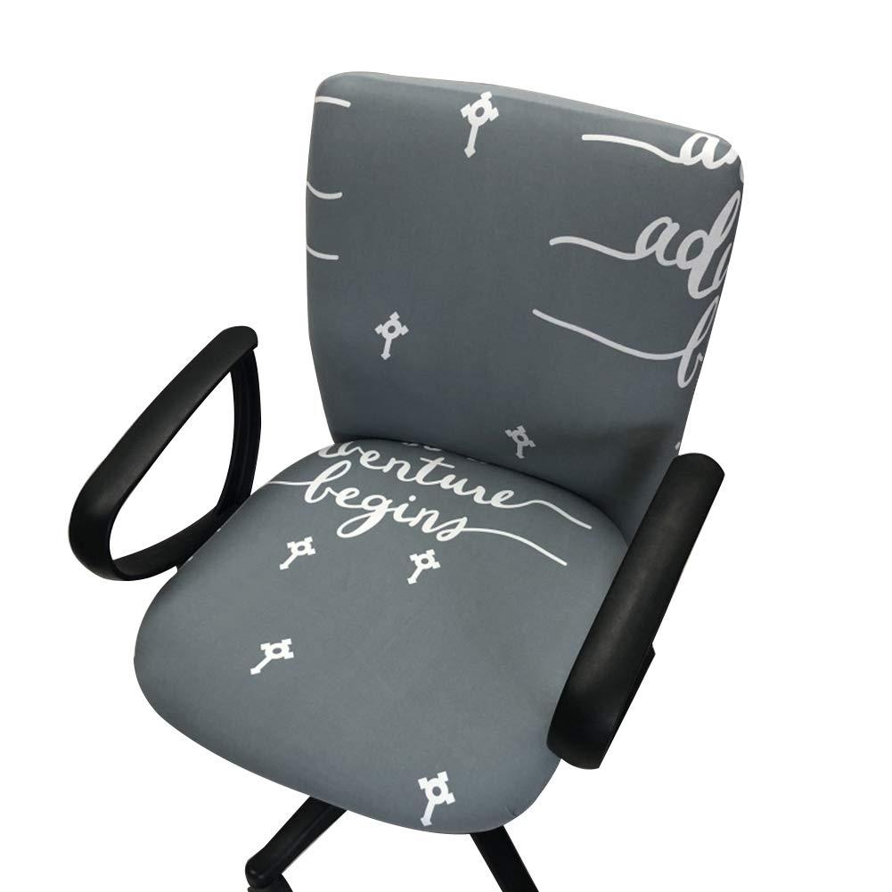 Dehnbarer Bürostuhl mit Blümchenmuster Schonbezug 8