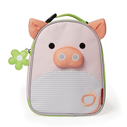 Skip Hop Zoo Kids Insulated Lunch Box, Pig, Pink