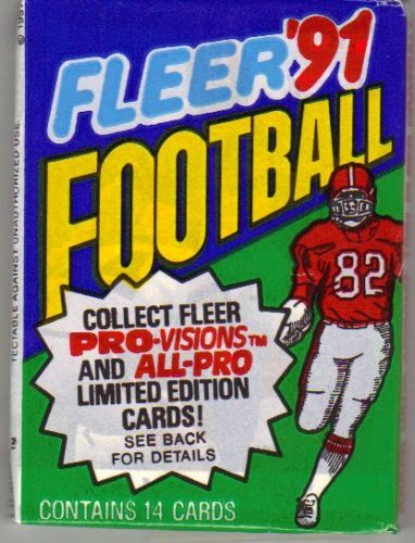 (1991 Fleer Football Cards Unopened Hobby Pack (14 cards per)