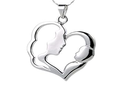 Amazon classic mother and child pendant necklace charm classic mother and child pendant necklace charm jewelry mother with baby design for mother aloadofball Image collections