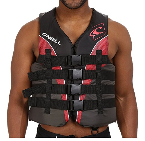 O'Neill Men's Wake Waterski Superlite 2016 USCG Vest, Large, Red Charcoal