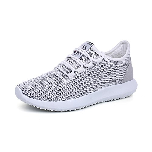 fereshte Women No Fashion Couple Gray Sneakers Casual Athletic Sports Unisex 852 Men Breathable Shoes r5wgPSyqrx