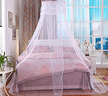 Bed Nets Canopy Mosquito Net Fit Crib Twin Full Queen King White Comforbed COMIN18JU014877