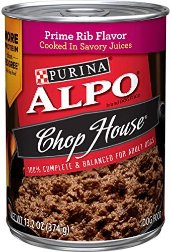 Purina ALPO Chop House in Savory Juices Adult Wet Dog Food – 12 13.2 oz. Cans
