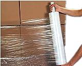 USA Premium Store Stretch Wrap 1 Roll 20'' X 1000 Feet 80 Gauge Move Pallet Luggage Plastic Shrink