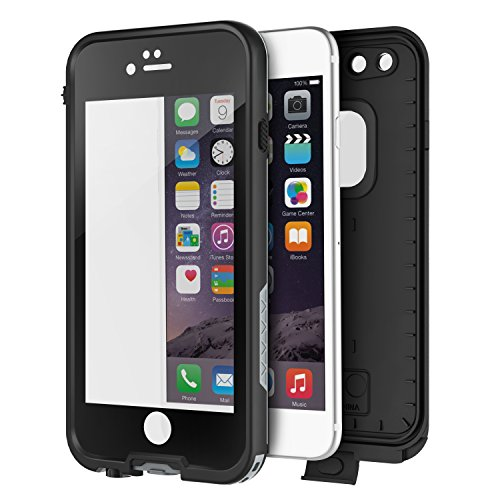 """OTBBA iPhone 6/6s(4.7"""") Waterproof Case ShockProof IP68 Certified With Touch ID SandProof Snow Proof Full Body Cover for iPhone 6/6s-Black"""