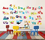 Whimsical Alphabet Wall Decal 10 x 18in