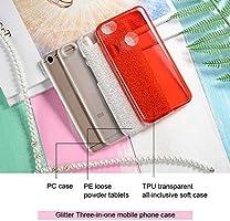 Amazon.com: PC &PE &TPU 3 in 1 Glitter Bling Case for Xiaomi ...
