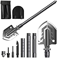 BEBEGO Ultimate Survival Tool Folding Shovel, Military Tactical Shovel, Portable Camping Shovel for Outdoor Su