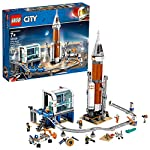 LEGO City Space Deep Space Rocket and Launch Control 60228 Model Rocket Building Kit with Toy Monorail, Control Tower…