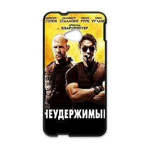 Generic Design Back Case Cover HTC One M7 Cell Phone Case Black ilvestr tallone sylvester stallone kino lyudi muzhchiny neuderzhimye the expendables zhejson tethem jason statham Hfica Plastic Cases