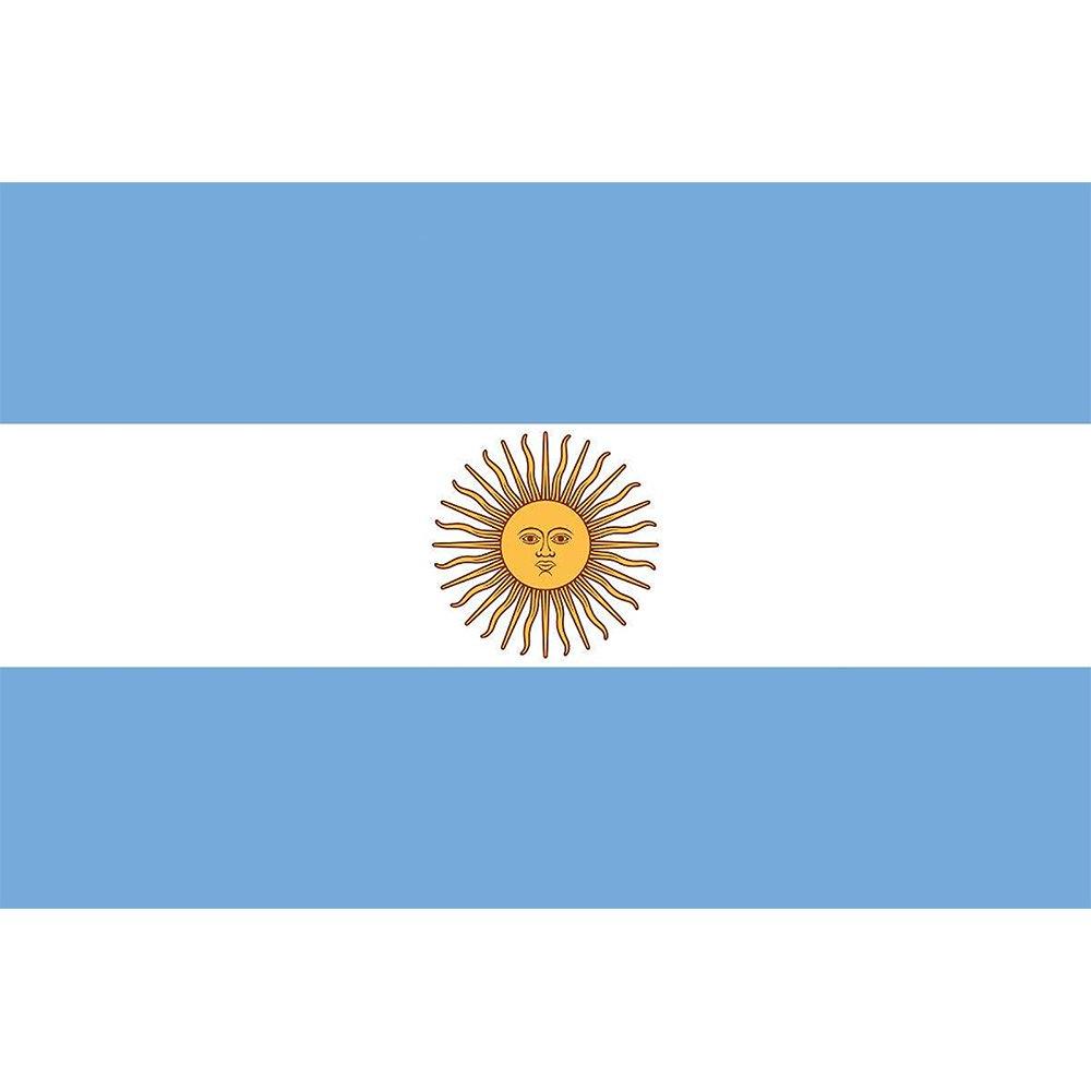 NiceButy Nationalflagge von Argentinien, 90 x 150 cm, Party-Dekoration, fü r Sportvereine, Feiern, Festivals, 1 Stü ck