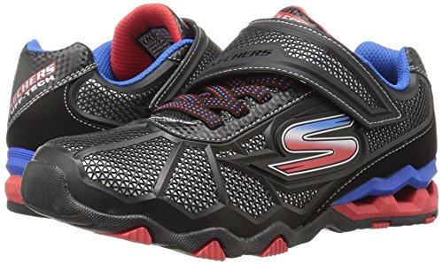 Skechers Boys Hydro-Static Durable Athletic Sporty Trainers Shoes Black/Royal blue