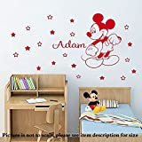 Disney Mickey Mouse Removable Home Decor Wall Sticker Personalized Vinyl Mural Kids Decal With 20 stars D5