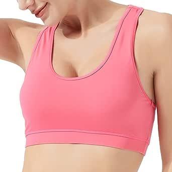 USHARESPORTS Sports Bras for Women High Impact Fitness Workout Running Longline Tank Top Crop Top Yoga Bra