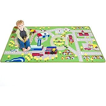 Amazon Com City Map Children Area Rug 39 Quot X58 Quot Toys Amp Games