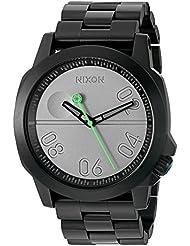 Nixon Mens Ranger 45 SW, Death Star Quartz Stainless Steel Casual Watch, Color:Black (Model: A521SW-2383-00)