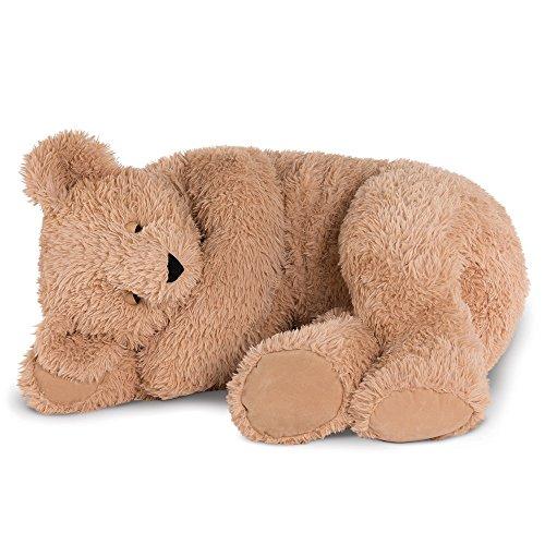 Bear Stuffed Animal Buddy (Vermont Teddy Bear - Giant Cuddle Buddy Bear, 3 Feet Long, Latte)