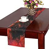 Jnseff Pattern Template Texture Structure Dark Color Table Runner, Kitchen Dining Table Runner 16 X 72 Inch For Dinner Parties, Events, Decor