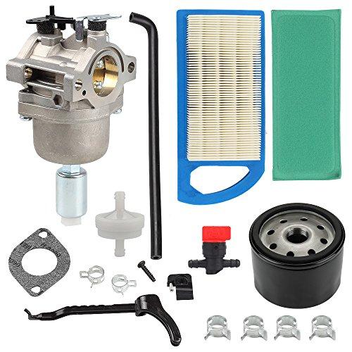 - Harbot LA115 MIA12509 Carburetor + Oil Filter+Air Filter Repower Kit for John Deere L107 L108 115 LA115 LA105 LA125 D110 Lawn Mower Tractor
