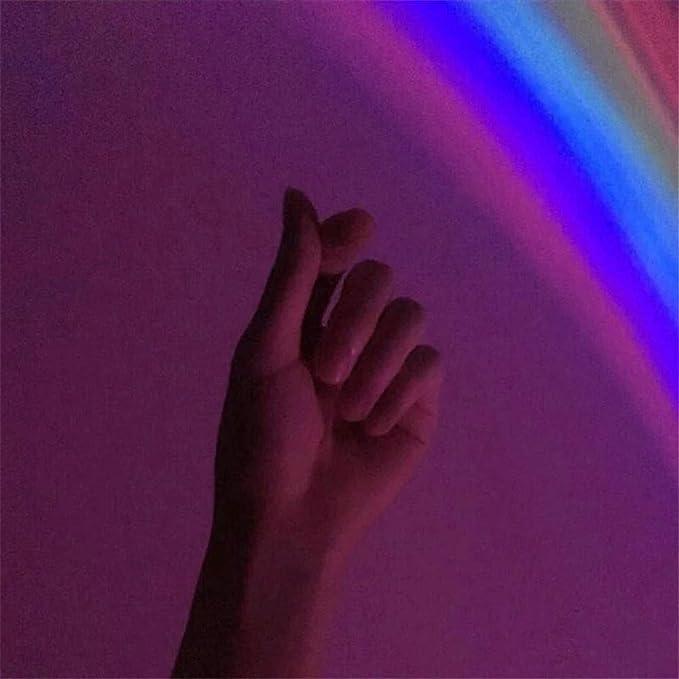 KOUPA Proyector de Arco Iris con Reflejo de luz LED: con Dos Modos ...