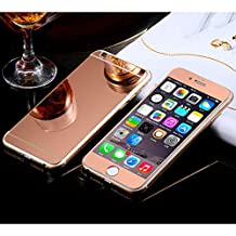 Front+Back Mirror Effect [Full Coverage] Tempered Glass Screen Protector for Apple iPhone 6 / 6S 4.7 inch - fengus Premium 9H Anti Scratch Full Edge to Edge Protection Protector Film - Rose Gold