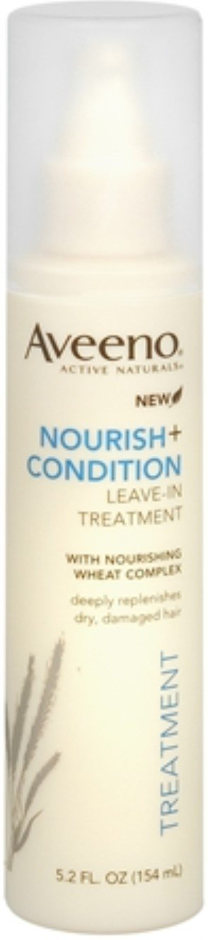 Aveeno Nourish+ Condition Leave-In Treatment, Replenish Damaged Hair, 5.2 Fl. Oz