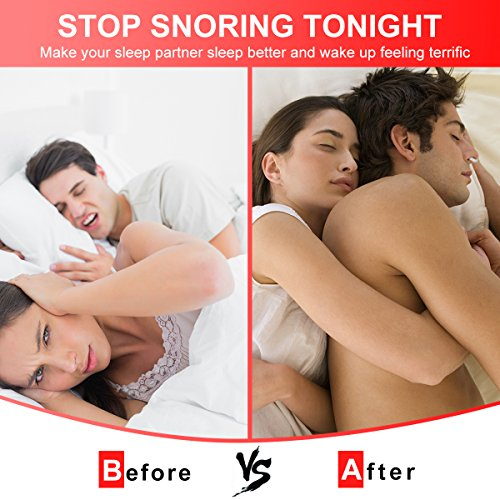 Anti Snoring Devices Tongue, 4 Set Snore Stopper Nose Vents Nasal Dilators Stop Snoring Solution Snoring Mouthpiece Sleep Aid Device Silicone Tongue Retainer for Men Women (Stop snoring Devices) by Usleepy (Image #3)