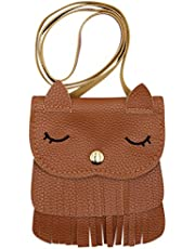 ZGMYC Cat Tassel Shoulder Bag Small Coin Purse Crossbody Satchel for Kids Girls