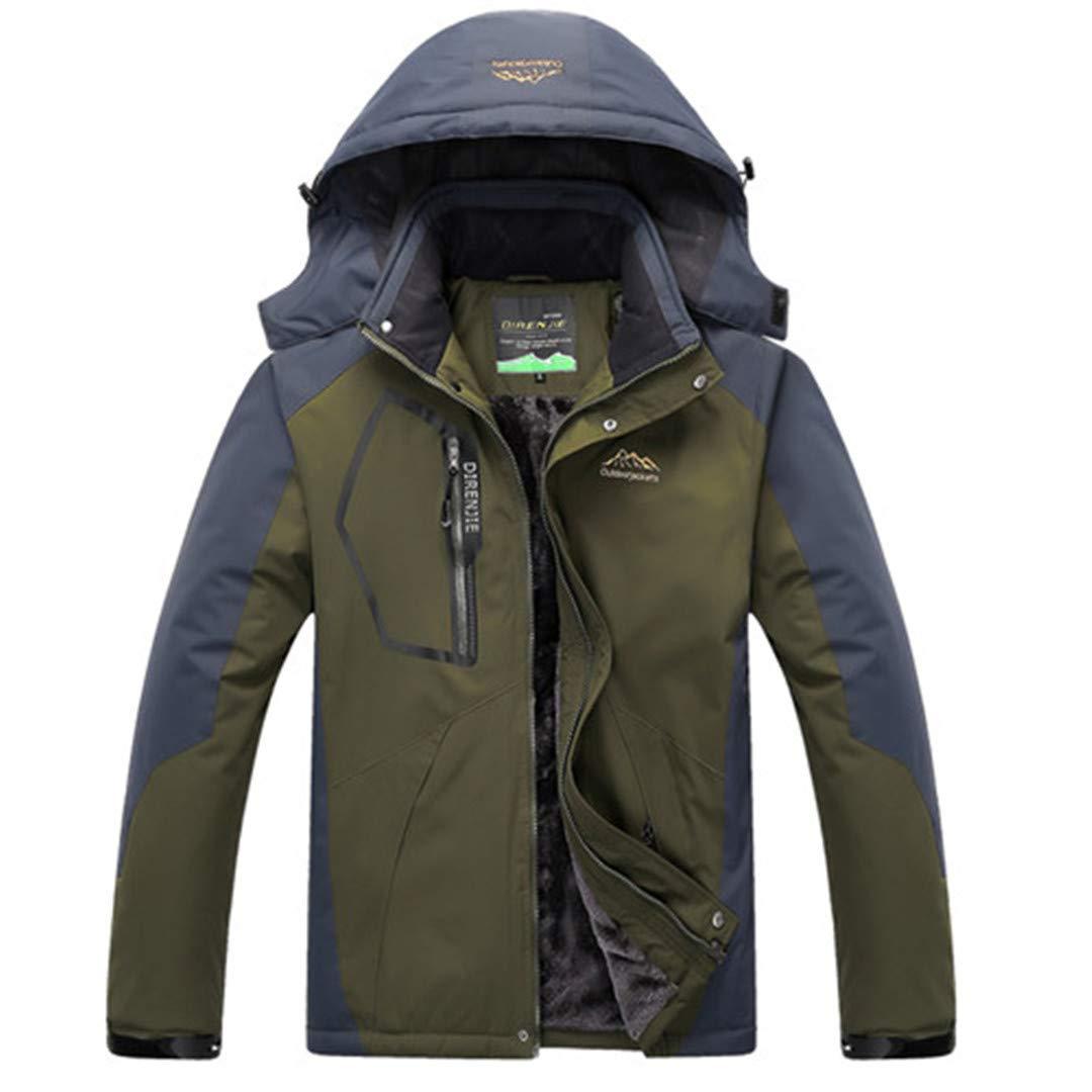 Military 4XL TH&Meoostny Vestes d'hiver Hommes Coupe-Vent étanche Outwear Polaire épais Manteau Chaud Chaud Manteau MÂle Capuche Amovible Manteau