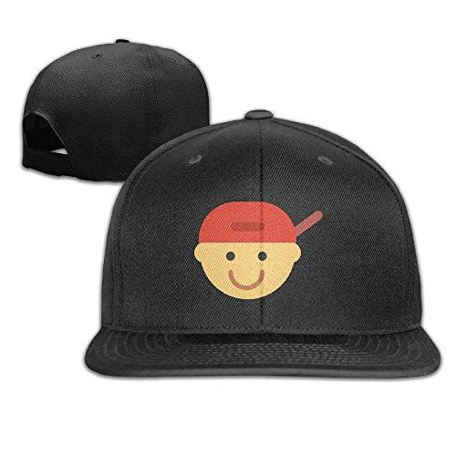 Aiguan Cartoon Raper Flat Visor Baseball Cap - Classic Snapback Hat - 8 Colors (Usc Beer Bucket)