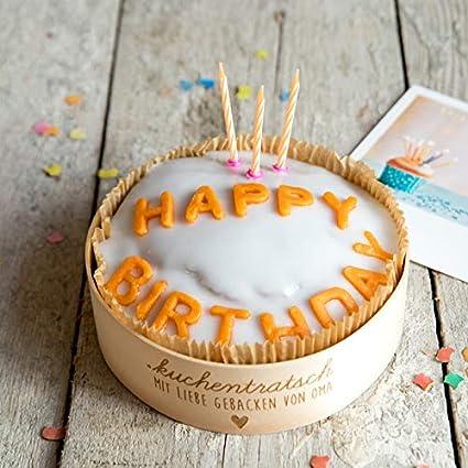 Happy Birthday Geburtstagskuchen Von Oma Milena Per Post Amazon De