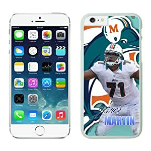 Miami Dolphins Jonathan Martin Case For iPhone 6 White 4.7 inches