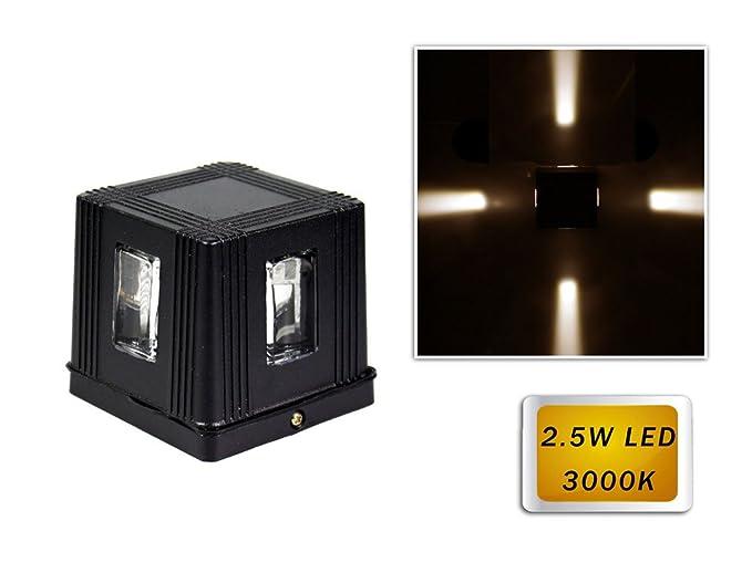 Vetrineinrete® applique led 2 5 watt per esterno lampada cubo da