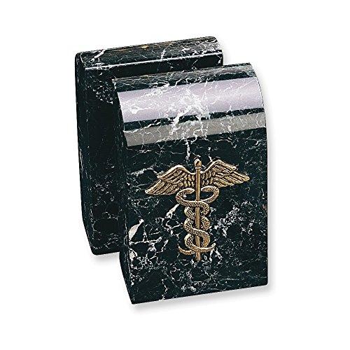 Medical Bookends (Medical Emblem Marble Bookends)