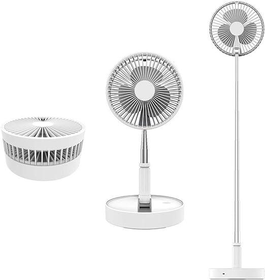 Ventilador de pie portátil plegable 096 de 4 velocidades, batería recargable ultra silenciosa, 7200 mAh, ventilador USB, ventilador de refrigeración de suelo,: Amazon.es: Hogar